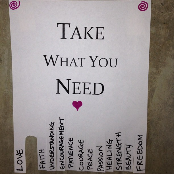 graphic about Take What You Need Printable identify Just take What Oneself Require Be part of the Unfold of Great Will Lisa Voisin